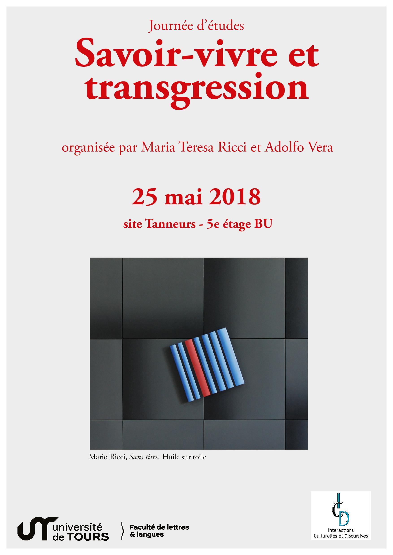 Affiche Savoir-vivre et transgression