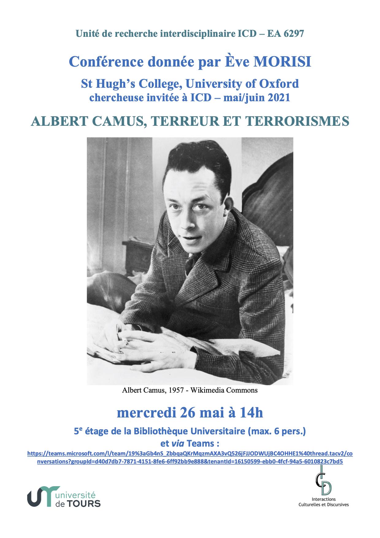 Affiche conf' Camus