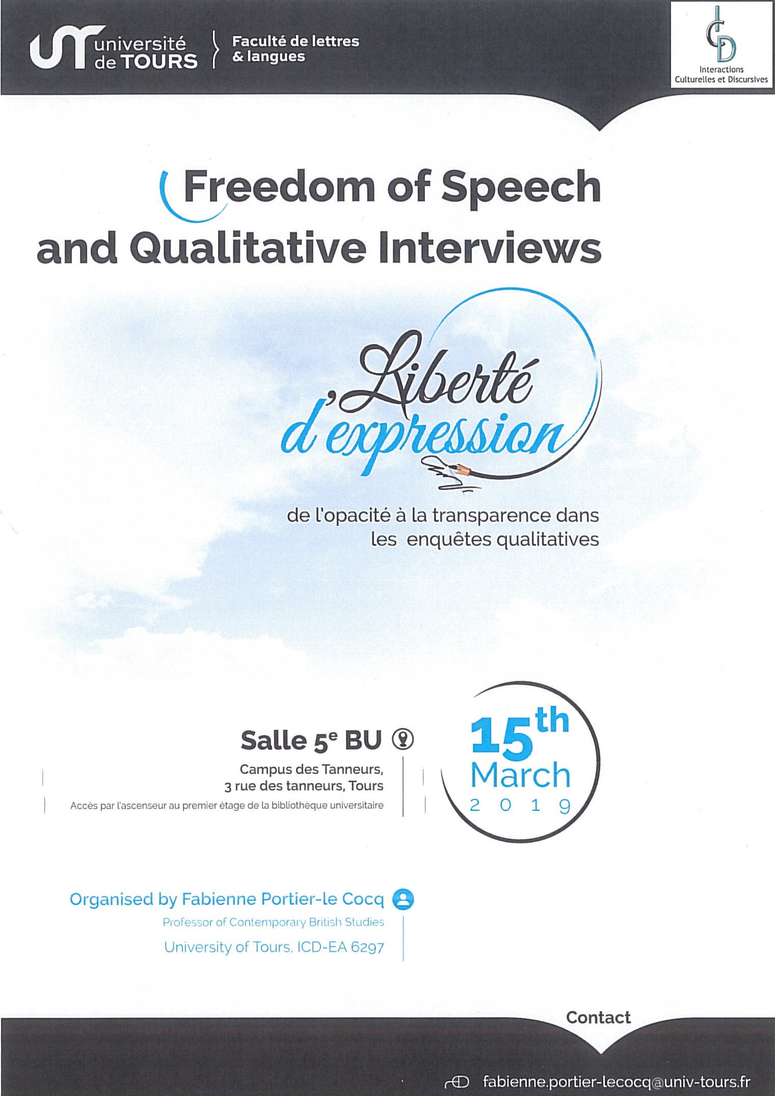 Freedom of Speech and Qualitative Interviews - Affiche