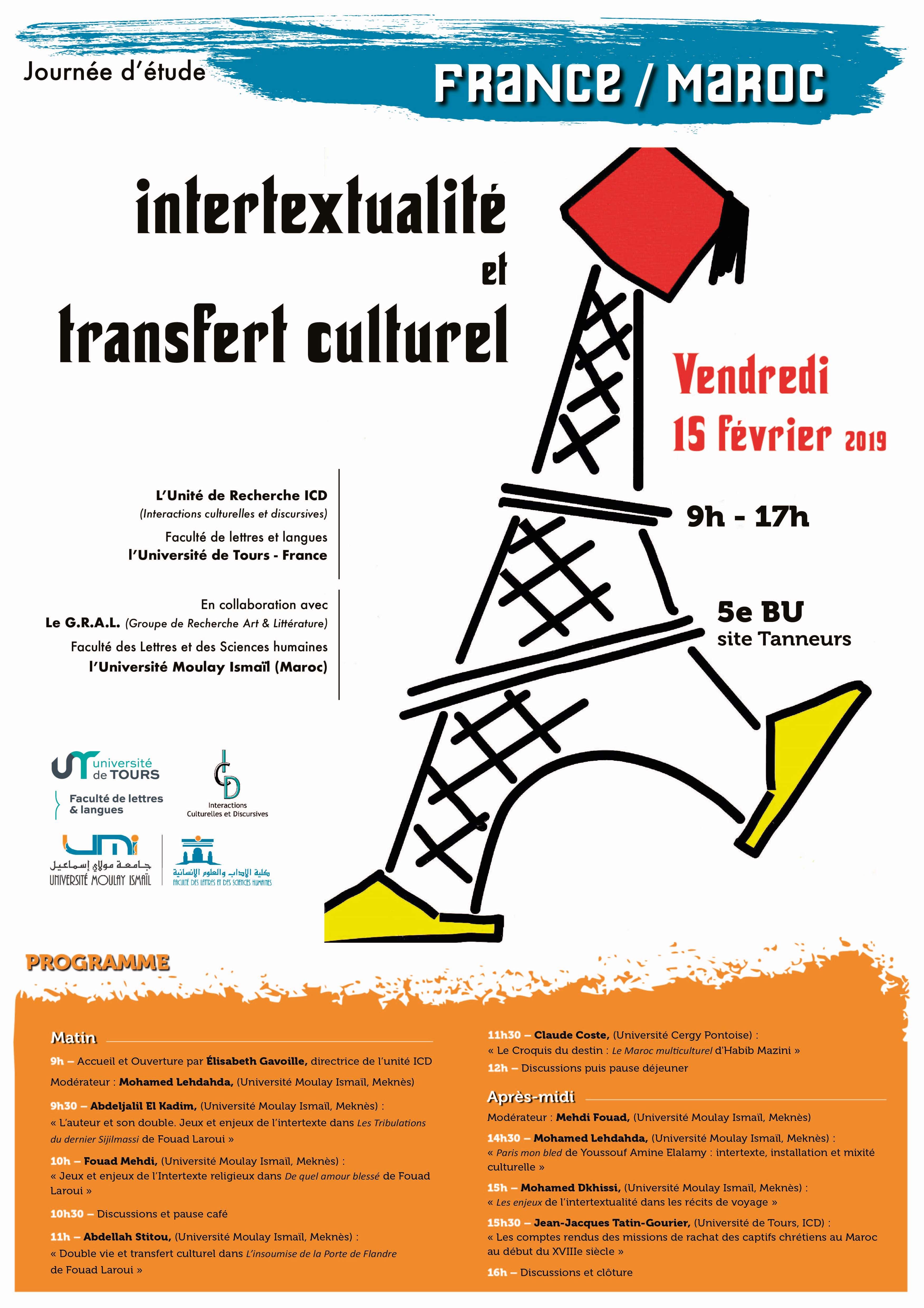 Journée d'étude France/Maroc - Affiche